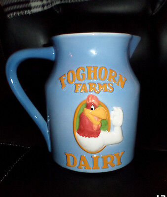 FOGHORN LEGHORN FARMS DAIRY CERAMIC PITCHER WARNER BROTHERS Excellent