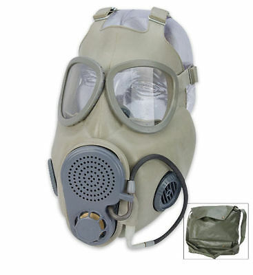 Czech M10M Unissued Military  Gas Mask w/ New Filter Drinking Tube Never Worn
