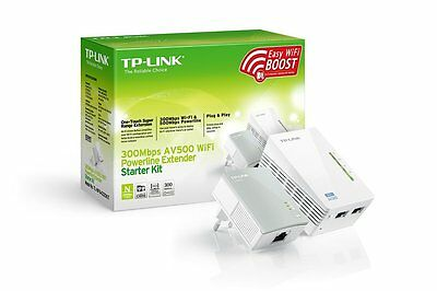 Modem PLC con WIFI TP-LINK TL-WPA4220 KIT 2 Nano Powerline 500 mbps AV500 Red