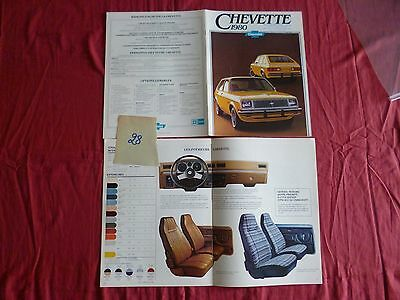 28  /   CHEVROLET : catalogue CHEVETTE texte français   septembre 1979