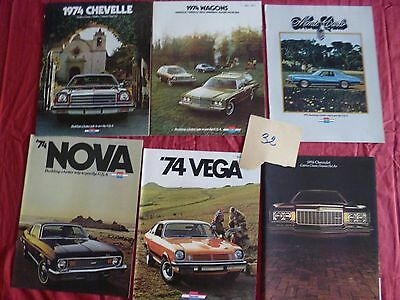 32  /   CHEVROLET :  6  catalogues gamme 1974