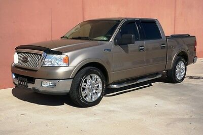 Ford : F-150 LARIAT CREW 04 ford f 150 lariat crew cab 2 wd carfax cert leather 20 ford whls adj pdls