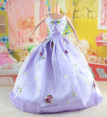 hot New Handmade Party Clothes Fashion Dress for Noble Doll *y25
