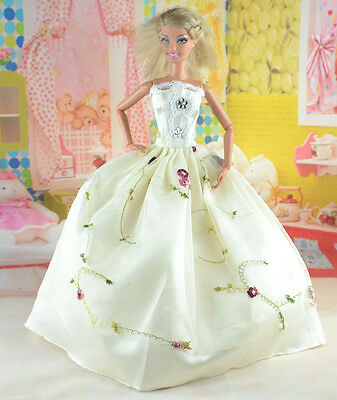 hot New Handmade Party Clothes Fashion Dress for Noble Doll *y15