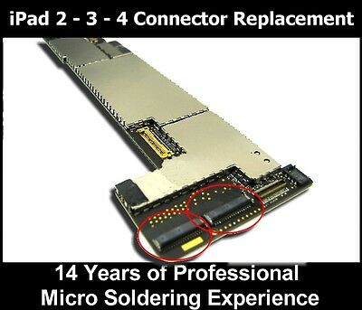 Apple iPad 2 3 4  DIGITIZER FPC Connector REPAIR SERVICE 37 pin Motherboard
