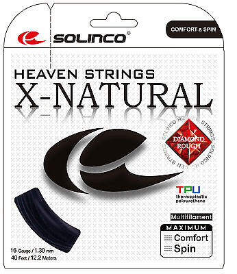 Solinco X-NATURAL DIAMOND ROUGH String Sets Tennis String AUTHORISED SELLER