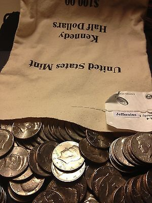 1971 - 2018 PD Kennedy Half Dollar 200 Coin Lot 2x Silver 90% 40% U.S. Mint Bag