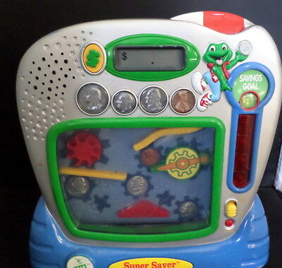 Leap Frog Super Saver Teaching Bank Learning System Toy/Fun-Educational