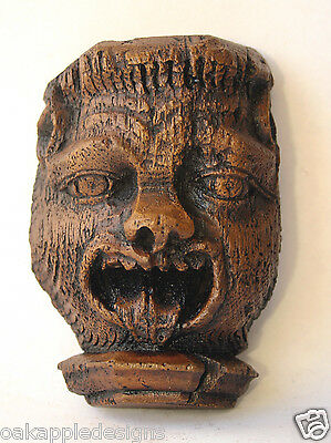 Medieval Face Tongue Reproduction Cathedral Carving Historical collectable Gift