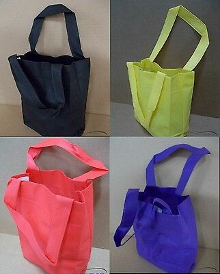 100 Reusable TOTE BAGS Grocery/Shopping Carrying Handle Gift/Retail/Party Bulk