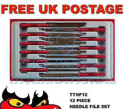 TENG TOOLS 12 Piece NEEDLE FILE SET Tray TTNF12