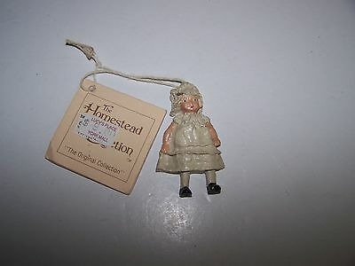 VTG IKE AND SANDY SPILLMAN THE HOMESTEAD COLLECTION POUTY TODDLER WOOD? ORNAMENT