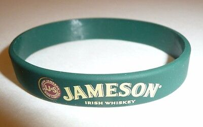 Green Jameson Irish Whiskey Rubber Bracelet - Wrist Band - Promo JJS