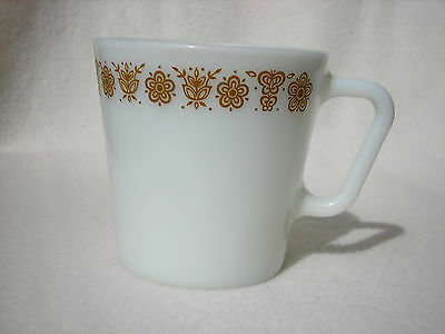 Vintage Pyrex Butterfly Gold Coffee Cup (1 only) For Replacement or Addition
