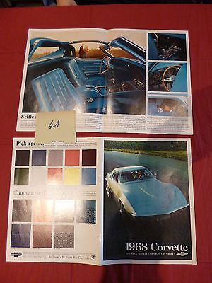 41 /   CHEVROLET Corvette 1968 : catalogue english text