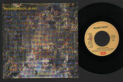 """7"""" Talking Heads Blind (Vocal Mix) / Bill Made In Italy 1988 Emi David Byrne"""