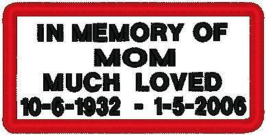 Custom Embroidered Motorcycle Memory  Patch, 24 Patches