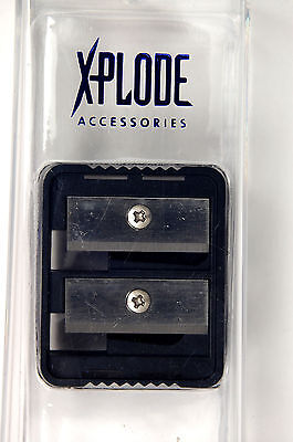 X-PLODE Side by Side Lip/Eye Pencil Dual Sharpener NEW (c60)
