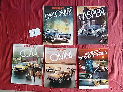 63  / DODGE : 5  catalogues  modéle 1979   english text