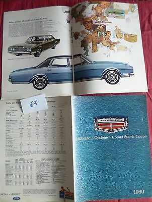 67  / LINCOLN MERCURY grand catalogue 1969   english text