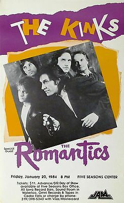 Music Poster Reprint The Kinks with The Romantics 1984