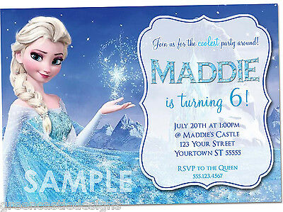 Disney Frozen Birthday Invitations * PRINTED Birthday Party Invites & Envelopes