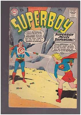 Superboy # 80  Superboy Meets Supergirl !  grade 2.5 Scarce Book !!