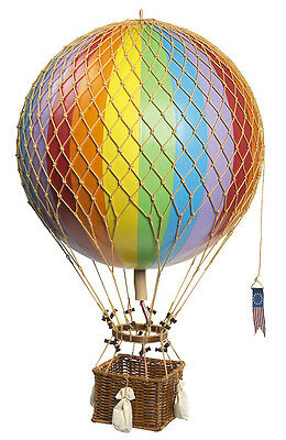 "Rainbow Striped 13"" Hot Air Balloon Model Aviation Ceiling Hanging Home Decor"