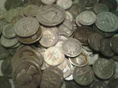 90% US JUNK SILVER ALL 90% 8 OZ. 1/2 POUND LB Quarters, Inflation Protection!