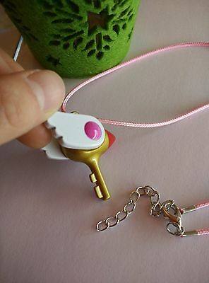 USA Seller Cosplay Card Captor Sakura Kinomoto Sealing Wand Key Metal Necklace