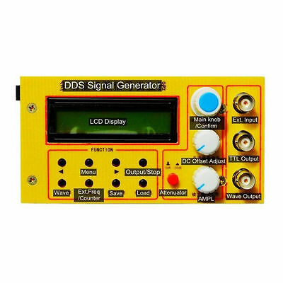 2MHz DDS led function signal generator frequency counter square wave pulse test