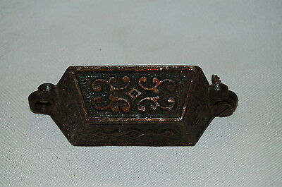 Bronzed Stamped Drawer Pull Patent Date Aug. 8 1871 East Lake Hardware