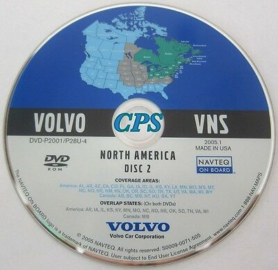 2002 2003 2004 2005 2006 Volvo XC90 S80 Navigation DVD WEST Map & Southeast area