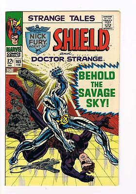 Strange Tales # 165 Behold the Savage Sky ! grade 8.0 scarce hot book !