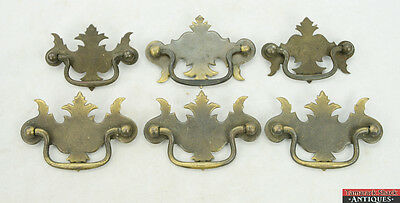 "Lot of 6 Chippendale Style Drawer Pulls, Qty 4 are 3"" on Center, 2 are 2 1/2"" OC"