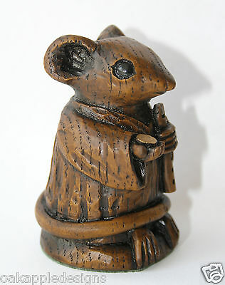 Church Mouse Busking Cute Musical Ornament Reproduction Carving Collectable Gift