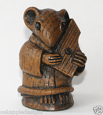 Church Mouse Musician Medieval Carving Psaltery Musical Collectable Cute Gift