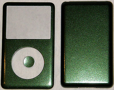 Apple Ipod Classic 6th, 7th Gen Custom Metallic Green-Colored Front/Back/Button