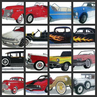 A Classic Car Collection  Embroidered Iron On Patch