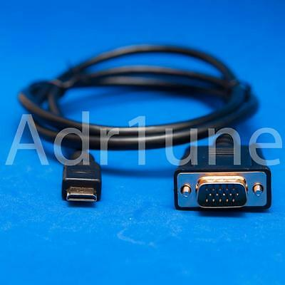 Cable MINI HDMI a VGA 1 metro longitud HD-15 dorado macho 15Pin 1080P FP PC-TV