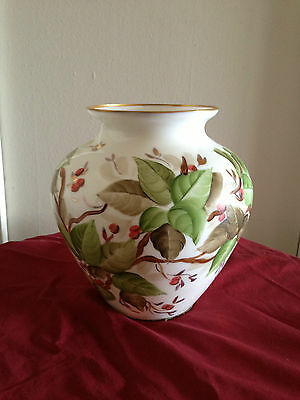 VINTAGE HAND PAINTED  VASE ITALY