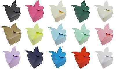 Butterfly Top Muffin / Cupcake Boxes, Wedding – Choose Colour and Quantity