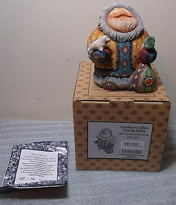 "G Debrekht ""Northern Lights Gazing Santa"" 515201 Derevo Lim Ed New NIB+COA"