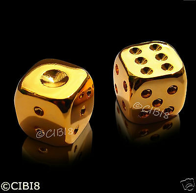 Gold Plated Dice Pair Star Wars  Luxury Gift Casino Hans Solo Very Rare!