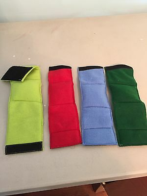 4-Male Dog Belly Bands No Inserts Leak Proof Just Wash And Dry Solid Colors