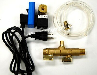 "Air Compressor Tank Drain Timed Electric Condensate Drain Valve 1/4"" Npt"