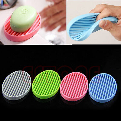 Fashion Super Practical Silicone Flexible Soap Dish Plate Bathroom Soap Holder