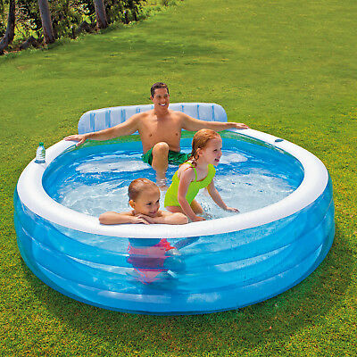 Intex Planschbecken 224x216x76 cm Pool Kinderpool Schwimmbad Swimmingpool 57190
