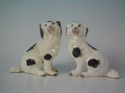 Pair Staffordshire spaniels with legs free