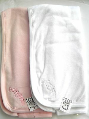 Daisy & Tom Designer Baby Blanket / Cuddle Wrap Ultra Soft Choice Pink OR White